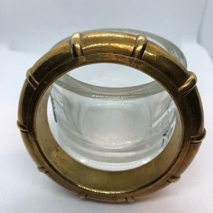 VTG Hollow Statement Piece Copper Bangle Bracelet